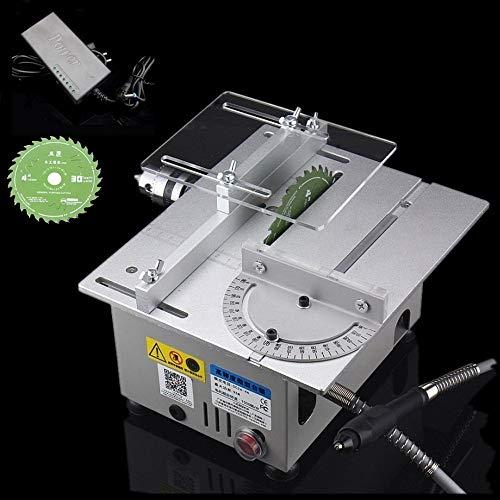 Sega da tavolo professionale/Mini sega da tavolo fai da te/Tagliatrice modello per legno/Dimensioni tavolo 240 X 200 X 130 mm argento