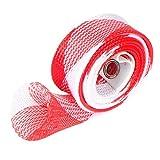 Cikuso Canna da Pesca Cover Rod Braided Strap Reel Cover Guanto Protector (Stile 1 Rosso Bianco)