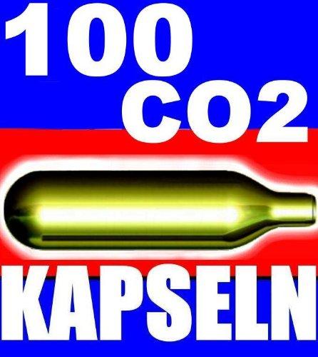 100 Stück CO2 Bierkapseln für alle Bierzapfanlagen mit 16 g CO2 wie z.B. Biermaxx Zapfprofi