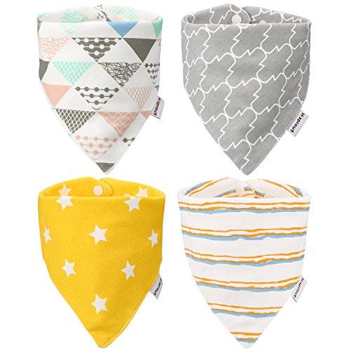 Itaar Pack de 4 Baberos de Algodón para Bebé Niños y Niñas