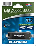 Platinum USB Stick 32GB USB 3.0 Double Slider - BLACK 177499