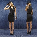 NET TOYS Damenkostüm FBI Kostüm Agentin S 36/38 Polizeikostüm Damen Faschingskostüm Polizistin Outfit Ermittlerin Karnevalskostüm Frauen
