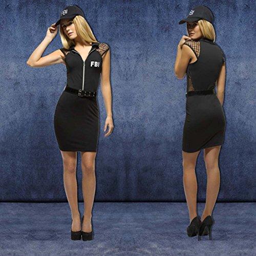 NET TOYS Damenkostüm FBI Kostüm Agentin XS 32/34 Polizeikostüm Damen Faschingskostüm Polizistin Outfit Ermittlerin Karnevalskostüm Frauen