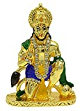 Religiöser Lord Bajrangbali Messing Statue Hanuman Figur Auto Armaturenbrett Dekor