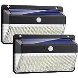 Lampade Solari a da Led Esterno,【 Alta Efficienza 228LED-2200mAh】VOOE Luce Solare Led Esterno Sensore di Movimento 3 Modalità