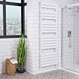 WarmeHaus Juva Scaldasalviette Elettrico Termoarredo Design Radiatore Bagno 1800 x 600mm 500W Bianco