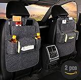 2 Pcs Fristee Rückseite Sitz Auto Organizer für Kinder mit Tablet Halterung mit Kick Matte und Sitz cover-double
