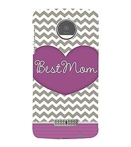 Best Mom Mother Mummy 3D Hard Polycarbonate Designer Back Case Cover for Motorola Moto Z :: Motorola Moto Z Droid