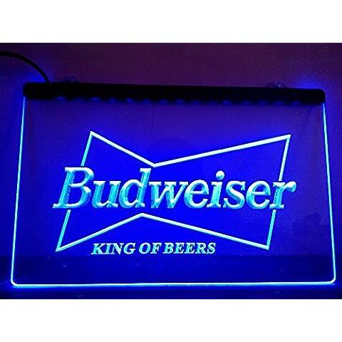 Budweiser LED segno pubblicità Neon scudo blu