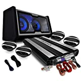 auna 4.1 Auto Lautsprecherset Komplett Hifi Set Black Line 600 10000W Endstufe Verstärker 16cm Boxen Subwoofer