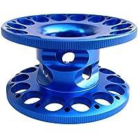 NON Bobina De Línea De Guía De Carrete De Dedo De Buceo De Aleación De Aluminio - Compacto, Ligero, Resistente A La Corrosión, Durable - Azul