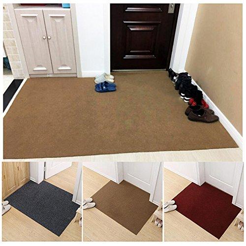Sinbide tappeto d' ingresso antiscivolo assorbente lavabile, tappeto a corto pelo resistente manutenzione facile, tappetino velluto interno e esterno, diverse misure e colori, rosso, 80 * 120 cm