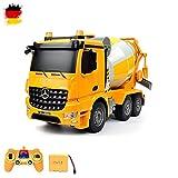 Mercedes-Benz Arocs- 2.4GHz RC ferngesteuerter Zementmixer Betonmischer Truck LKW, Sound- und LED-Effekte, 1:26 Maßstab, Komplett-Set inkl. Akku und Ladegerät