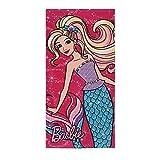 Kinder Mädchen MATTEL Barbie qe4320Bad Beach Baumwolle Frottee Handtuch 140x 70cm