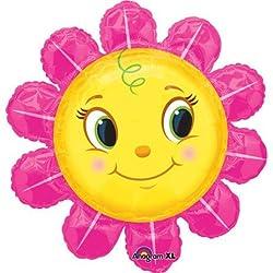Smiley Pink Flower Super Shape