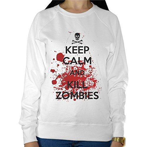 Felpa Leggera Donna Keep Calm And Kill Zombies The Walking Dead