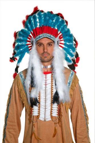 Imagen 4 de Smiffy's - Peluca de indio del oeste para hombre, talla única (196736)