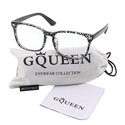 GQUEEN Großer Übergroßer Rahmen Hornbrille Klare Gläser Brille PE2