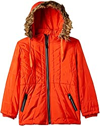 Fort Collins Girls Regular Fit Synthetic Jacket (10210_Orange_30 (10 - 11 years))