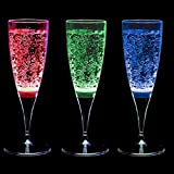 Mixberry Celebration Plastic Champagne Glass Set, 150ml, Set of 3, Transparent