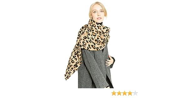 ZKOO Femme Epaisse Faux Cachemire Chaude Echarpes Grande Léopard Imprimé  Foulards Automne Hiver  Amazon.fr  Vêtements et accessoires 0fe2eb77b16