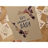 MAMA Meilensteinkarten für die Schwangerschaft Blumen