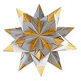 Folia Bascetta Stern Bastelset Duo-Papier 15x15cm, 30-teilig, silber / gold
