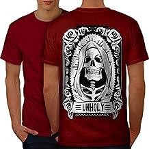 wellcoda unheilig Rose Tod Schädel Männer S-5XL Ringer T-Shirt