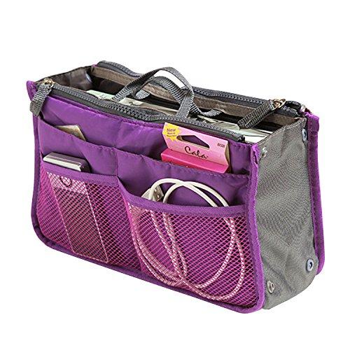 SAVFY® Kosmetik Handtasche Reise Organizer Kulturbeutel Kulturtaschen (lila)