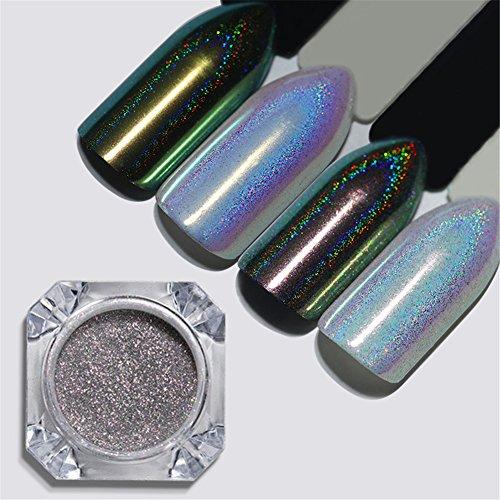 Mica Vitamine (coulorbuttons 1Box UR Zucker Chameleon Holografische Nail Puder Glitzer Holo Laser Rainbow chrom Pigment Maniküre Nail Art UV Gel Politur 2 Colors)