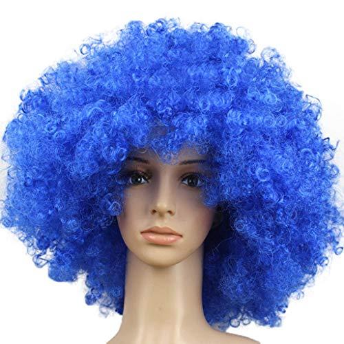 kashyk Damen Perücken,Afrikanisches Lockiges Haar,Mode Natur Hitzeresistente Kunsthaar, gewellte Perücke,Haarersatz Cosplay Perücke, Ostern Perücke