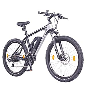 "NCM Prague 26"" / 27,5"" Zoll Elektrofahrrad Mountainbike E-MTB E-Bike,Pedelec mit 250W Bafang Heckmotor 36V Li-Ion Akku mit 13Ah 468Wh,mechanische Scheibenbremsen,21 Gang Shimano Schaltung (Schwarz 26"")"