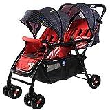 Kaysa-TS Zwilling-Baby-Stroller, Reisesystem, Kann mit hoher Landschaft Kinderwagen, leichtgewichtiger Fit von Geburt an