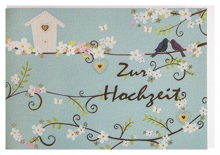 Hochzeitskarte Vogelpaar A6