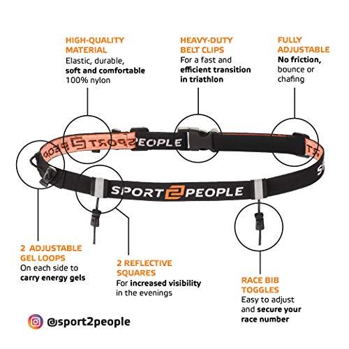 Zoom IMG-2 sport2people portanumero cintura con gel