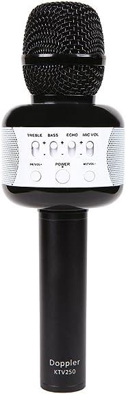 Doppler KTV 250 Black Işık ve Sünger Hediyeli Karaoke Mikrofonu, Siyah