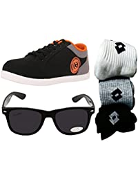 Globalite Combo Men's Casual Shoes GSC0338AMZ with Lotto Sunglass and Lotto Socks