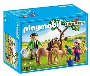 veterinario animales: Playmobil Granja de Ponis - Veterinario con Ponis (6949)