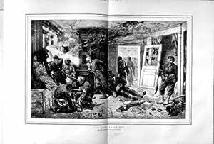 La Bataille 1873 de Soldats de Guerre d'Alphonse Neuville Lance la Chambre