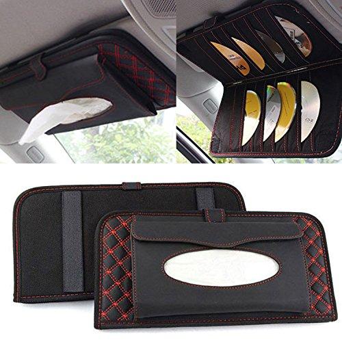 Preisvergleich Produktbild Raiphy Auto Sonnenblende Organizer Tasche Aufbewahren Multifunktions Auto Sonnenblende Tasche CDs mit Serviettenspender