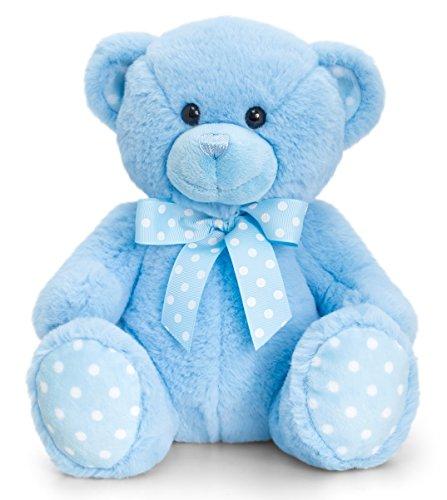 Lashuma Keel Baby Plüschtier Bär groß in Rosa oder Blau, Kuscheltier Teddy sitzend ca. 35 cm