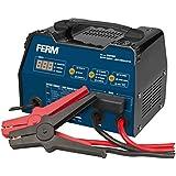 FERM BCM1020 Chargeur de batterie avec aide au démarrage 6-12V - Protection contre le surcharge - 3 réglages de charge