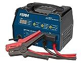 FERM Chargeur de batterie avec aide au démarrage 6-12V - Protection contre le surcharge - 3 réglages de charge