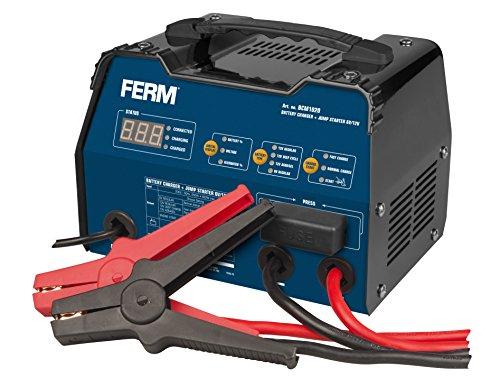 Preisvergleich Produktbild FERM BCM1020 Batterieladegerät 6/12V - Mit Startfunktion, Impulserhaltungsladung und Ein Set Batteriepolklemmen