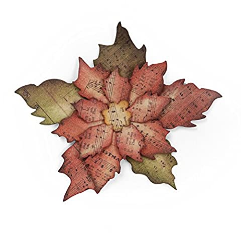 Sizzix Bigz Die Tattered Poinsettia by Tim Holtz, Multi-Colour