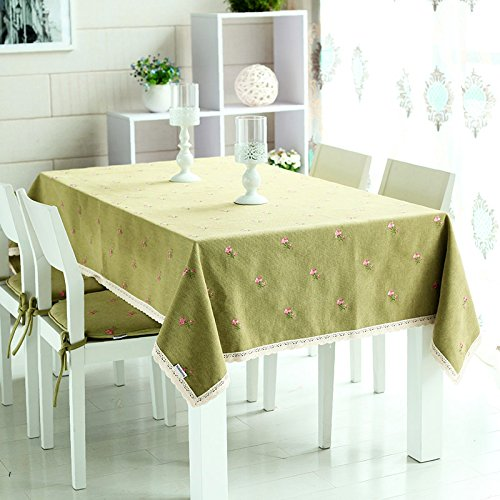 WFLJL Tischdecke Bauernhaus Stil Tuch Esstisch Couchtisch Rechteck grün 140 * 200cm - Bauernhaus Couchtische