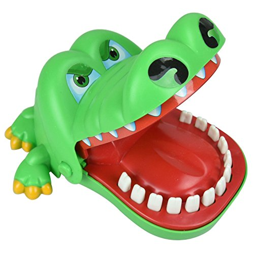 Funny Big Crocodile Dentist Game Big Mouth Tooth Bite Finger Toy Prank - Kids Children's Novelty Gift Coordination & Strategy Skills