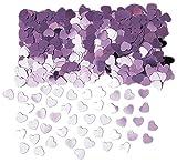 Confetis corazones metalizados rosa