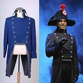 Comédie musicale - Les Misérables - Norm Javert Lewis Veste Jacket Cosplay Costume Déguisement - Bleu foncé - *Sur Mesure*
