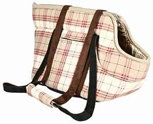 Trixie 3625 'Cleo' Bag Pet Carrier Cotton 25 ラ 30 ラ 32 cm Beige / Red Check